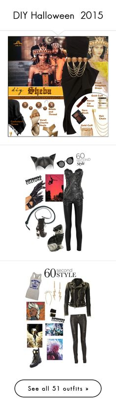 """""""DIY Halloween  2015"""" by muffinsangria ❤ liked on Polyvore featuring Peach Couture, Verali, Maticevski, Wet Seal, River Island, NARS Cosmetics, Kevyn Aucoin, diycostume, beauty and Yves Saint Laurent"""