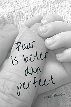 Puur is beter dan perfect