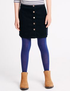 Pure Cotton Cord A-Line Skirt (5-14 Years)