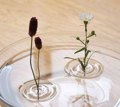 Sanfte Welle - schwimmende Vase von Oodesign
