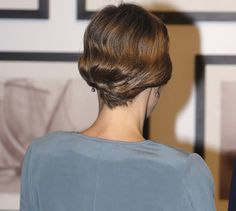 Detail of Queen Letizia's hairdo at the Miami-Dade College Presidential Medal presentation to her husband King Felipe VI of Spain at the Freedom Tower on September 17, 2015 in Miami, Florida.