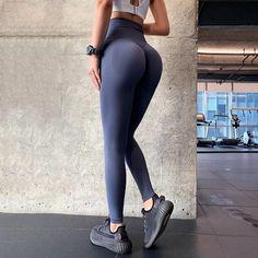 Seamless High Waist Fitness Yoga Pants Legging Sport, Sport Pants, Sports Leggings, Tight Leggings, Yoga Fitness, Nylons, Custom Sportswear, Dark Blue Pants, Sports Trousers