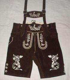 German Bavarian Oktoberfest Trachten Short Kurze Hosen Lederhosen Traditional   eBay