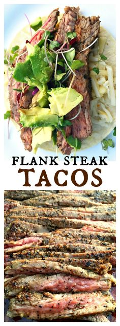 Flank Steak Tacos at ReluctantEntertainer.com