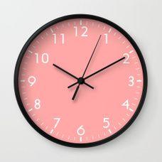 Coral Pink Wall Clock Pink Wall Clocks Wall Clock Pink Clocks