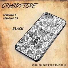 One Direction Tattoo Black White Snap On 3D For Iphone 5/5S Case