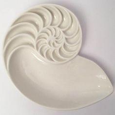 AsiatidesPorzellanschale Seashell, weiß