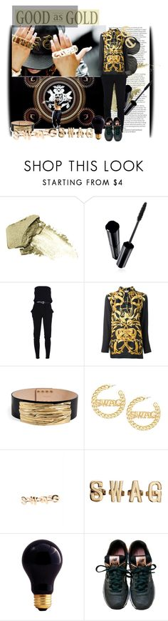 """""""GZB SWAG"""" by moonabout ❤ liked on Polyvore featuring ASOS, Urban Decay, Shiseido, MICHAEL Michael Kors, Hermès, Balmain, With Love From CA, H&M, Bulbrite and New Balance"""