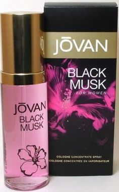 Jovan Black Musk by Coty, 3.25 oz Cologne Concentrate Spray for women.