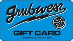 Grubwear Gift Card