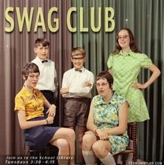 Swag Club Vintage School Picture Yearbook Funny Pictures Random Pics Dump Stupid Humor Memes Weird Strange WTF LOL Goofy
