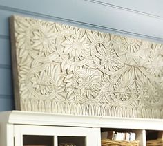 Would look great over kitchen window.  Rising Sun Wall Panel #potterybarn