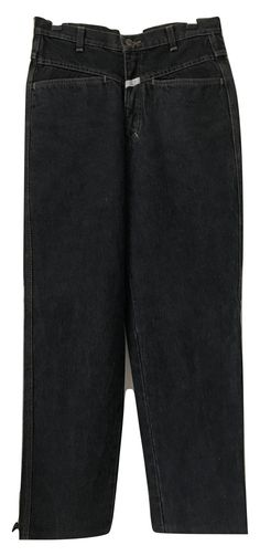Vintage Closed by Marithe & Francois Girbaud highwaisted stone washed black jeans, size 40
