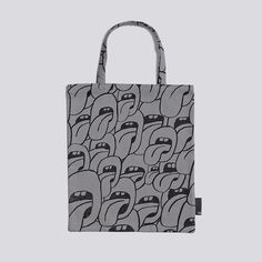 HAY Grey Patterened Tote Bag: These playful tote bags are made from printed cotton based on the colourful patterns from designer Jody Barton for HAY. Available in grey or pink.