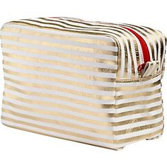 Gold Stripe Cosmetic Bag