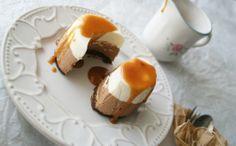 jugando en mi cocina: Tartitas mousse de chocolate y toffe al aroma de naranja
