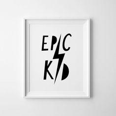 Affiche Scandinave Kid épica arte infantil por MiniLearnersPrints