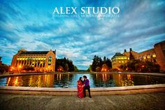 ALEX STUDIO PHOTOGRAPHY AND CINEMATOGRAPHY Maternity, Newborn, Head shot, Fashion portfolio Destination Wedding- Worldwide Travel Please contact us at 425.883.6800 http://www.alexphotography.com  info@alexphotography.com Engagement Photoshoot Session, Couple Portraits, non-posing style natural moment, shot by the fountain at UW, bride in traditional Indian dress
