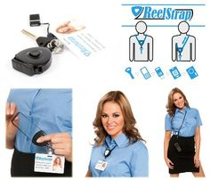 ReelstrapTM - The Best Id Badge Holder. Better Than Badge Reels or Retractable Lanyards. Reelstrap http://www.amazon.com/dp/B00A9JJ2CE/ref=cm_sw_r_pi_dp_6jpevb1WNK9CE