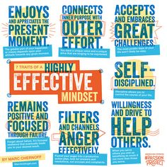7 Traits of a Highly Effective Mindset via #PassionProject. Re-pin if you plan to put your mind to your passion!