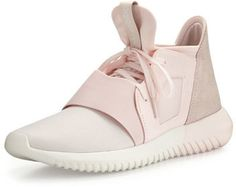 adidas Tubular Defiant Jersey & Suede Trainer, Halo Pink