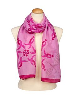 Komen Flower Silk Scarf great way to show your support this October