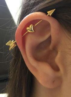 Gold Arc Ear Jackets- ear jacket earrings/ minimal ear jackets/ gold ear jacket/ ear cuff/ dainty ear jacket/ gifts for her/ birthday gift – Fine Jewelry Ideas – Piercings 2020 Black Diamond Studs, Black Diamond Earrings, Gold Bar Earrings, Tanjas Piercing, Cute Ear Piercings, Bellybutton Piercings, Body Piercings, Ear Jewelry, Body Jewelry