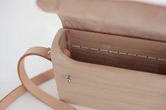 wood bags wooden purses handbag leather across от CCHousewares Tan Leather Handbags, Leather Crossbody, Leather Bag, Wooden Purse, Sacs Design, Across Body Bag, Handbag Stores, Textiles, Natural Leather
