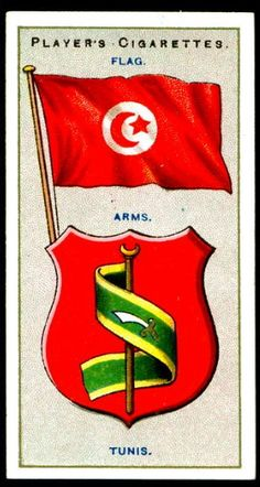"""Player's Cigarettes """"Countries Arms & Flags"""" (series of 50 issued in Tunisia Curved Swords, Mounted Archery, Countries And Flags, Ottoman Turks, Types Of Swords, Horsemen Of The Apocalypse, Pin Up Posters, Sword Design, Flags Of The World"""