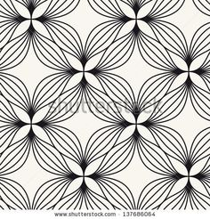Seamless pattern. Floral stylish background. Vector repeating texture by Curly Pat, via Shutterstock
