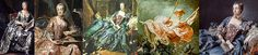 18th century costume paintings- various artists