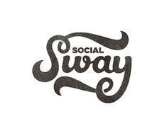 Social Sway Logo Inspiration Gallery | More logos http://blog.logoswish.com/category/logo-inspiration-gallery/ #logo #design #inspiration