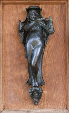 Anglesey Abbey Door knocker on the used books shop door