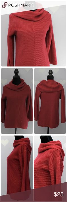 Design 365 Cowl Tunic Red Sweater S Measurements are taken flat (approx) Length: 27 Armpit across: 17 Sleeve: 16.5  Material: acrylic.                                                                  🐼Stock DC🐼 Sweaters Cowl & Turtlenecks