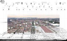 Segundo y Tercer Lugar Anteproyecto Plan Maestro de la Merced Architecture Graphics, Urban Architecture, Architecture Drawings, Presentation Techniques, Project Presentation, Planning Maps, Urban Planning, Landscape And Urbanism, Landscape Plans