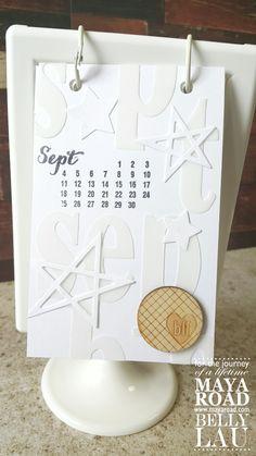 白與白 White on White Calendar with Maya Road  http://wp.me/p4Plwu-1Ix  #scrapbook #papercraft #papercraftbuffet #hongkong #maya_road #designteam #calendar #ikea #white #homedecor