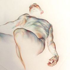 """639 Likes, 5 Comments - WanJin GIM (@willeys_art) on Instagram: """"'path5' inspired by Max Richter: from SLEEP' #drawing #coloredpencil #art #artwork #nude…"""""""