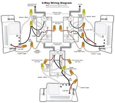 wiring diagram 4 way switch multiple lights appliances and rh pinterest com