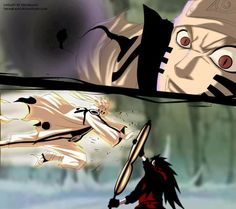 Loved Sasuke and Madara's interacting. Losing his rinnegan did make a lot of sense. But I can't help but to worry about a potential ass pull that Madara might pull in order to become the ten tail Jinchuuriki. Madara reads the tablet that key to happiness is two opposite forces Senju and Uchihas work together and interprets that it meant steal Senju power and become OP and that will make him happy.