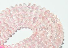 """7mm to 8mm ROSE QUARTZ faceted beads AAA 10"""" 25cm line  ROSE COLOR NATURAL  QUARTZ GEMSTONE BEAD,WELL POLISHED GEMSTONE,GEMSTONE BEAD FROM GEMROCKAUCTIONS"""