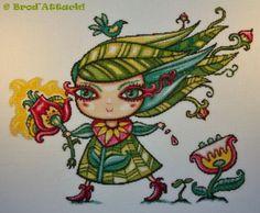 Broderie Lady Spring de Brod'attack!