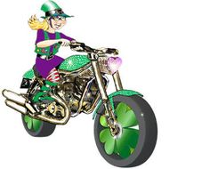 Lady MC Leprechaun Biker on dwli.com