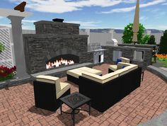 Custom Outdoor Fireplace... Dreaming