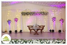 Udyan Wedding Halls In Cochin Looking for a flexible venue where you can accommodate small or large crowd for your wedding or pre-wedding functions? Reception Stage Decor, Diy Reception Decorations, Wedding Stage Design, Wedding Reception Backdrop, Indian Wedding Decorations, Wedding Venues, Backdrop Decorations, Backdrops, Engagement Stage Decoration