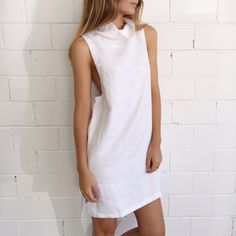 Sir the Label Bowie High Neck Dress - White