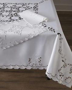 Audra Cutwork Table Linens - Neiman Marcus