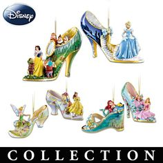 Sculpted Slipper Ornaments With Disney Characters