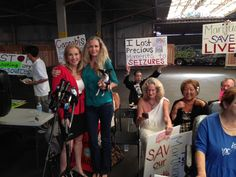 Cheryl Shuman, Booty and I @ Heritage Farmers Market. Press release with Cheryl Shuman.