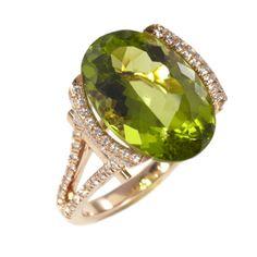 Mark Patterson Rose Gold, Peridot and Diamond Ring!