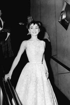 Audrey Hepburn in Givenchy at the Oscars, 1954